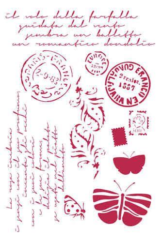 Post Card KSG289 New Stamperia A4 Mix Media Stencil