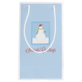 Season's Greetings Gift Bag Small Gift Bag