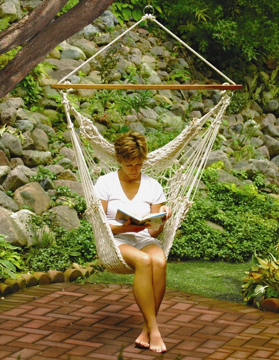 algoma    pany brown hanging cotton rope hammock chair algoma    pany brown hanging cotton rope hammock chair   for      rh   pinterest