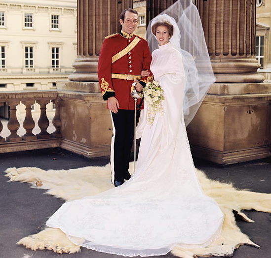 Princess Anne and Mark Phillips England royalty wedding