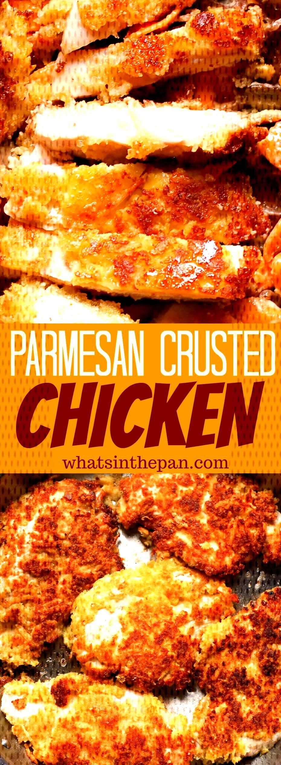 Parmesan Crusted Chicken Parmesan Crusted Chicken is quick and easy recipe to add to your chicken d