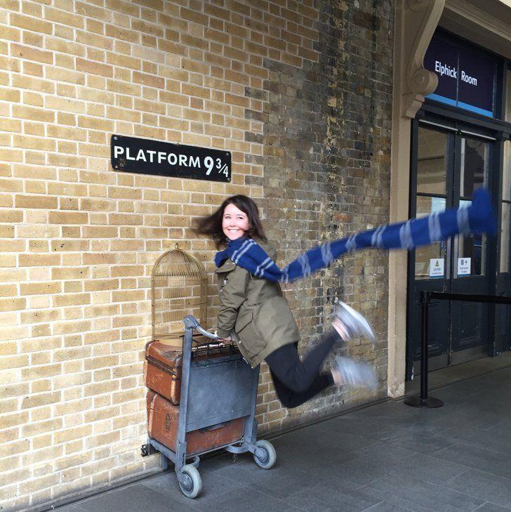 Platform 9 3 4 In King S Cross London Harry Potter Travel Harry Potter Universal Harry Potter Travel Bucket List