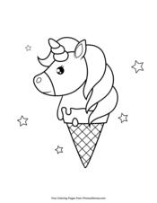 Unicorn Ice Cream Cone Unicorn Coloring Pages Coloring Pages Coloring Books