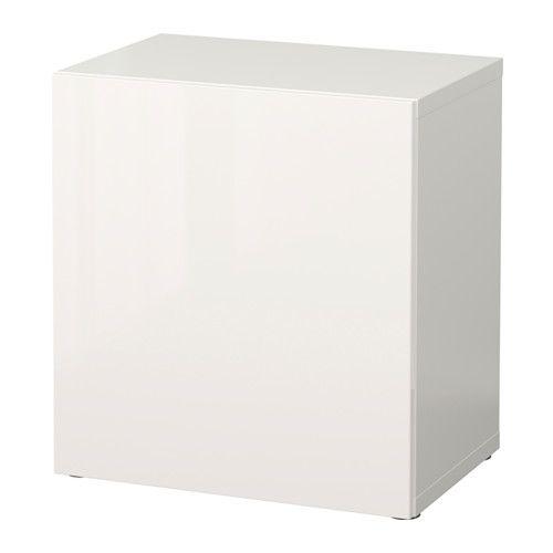 Ikea Besta Türen bestå regal mit tür weiß selsviken hochglanz weiß regal mit