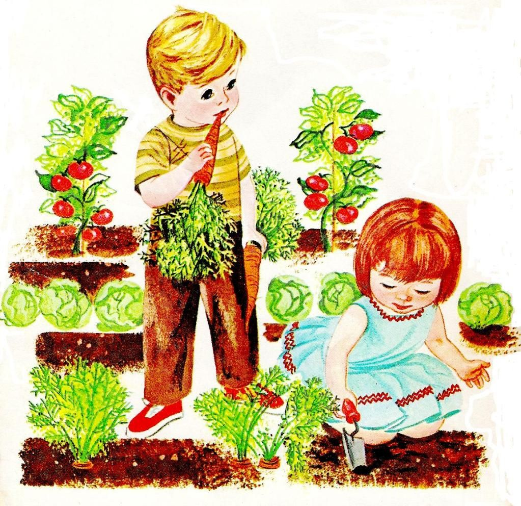 Vegetable Garden Ideas For Kids retro child gardening |  whimsies for spreading joy*: vintage