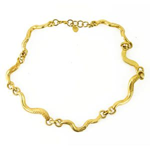 Christian Lacroix Single Snake like Chain Necklace with gold hardware - authentic