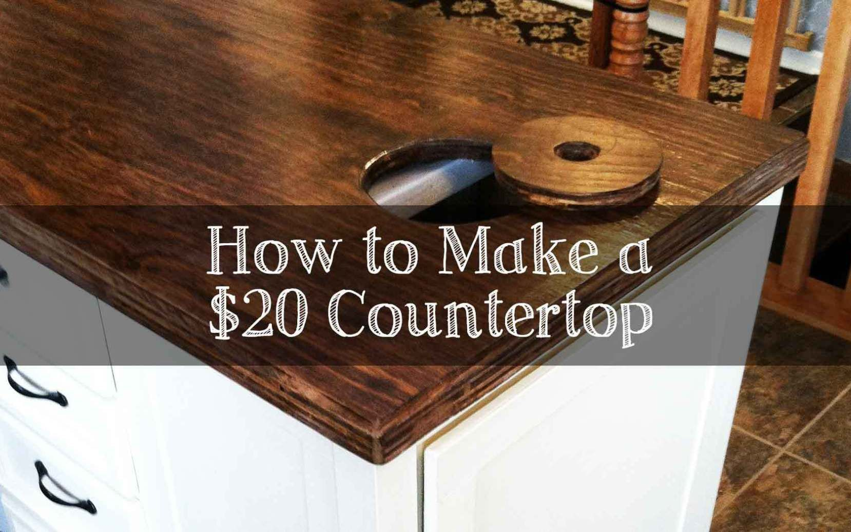 How To Make Your Own Counter For 20 Diy Countertops Cheap Plywood Kitchen Cheap Countertops