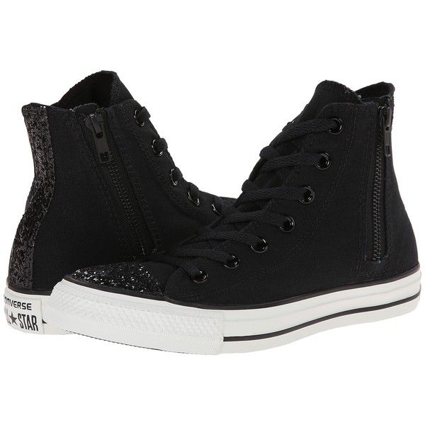f84f13c59e6612 Converse Chuck Taylor All Star Side Zip Toecap Sparkle Hi Women s Lace...  ( 53) ❤ liked on Polyvore