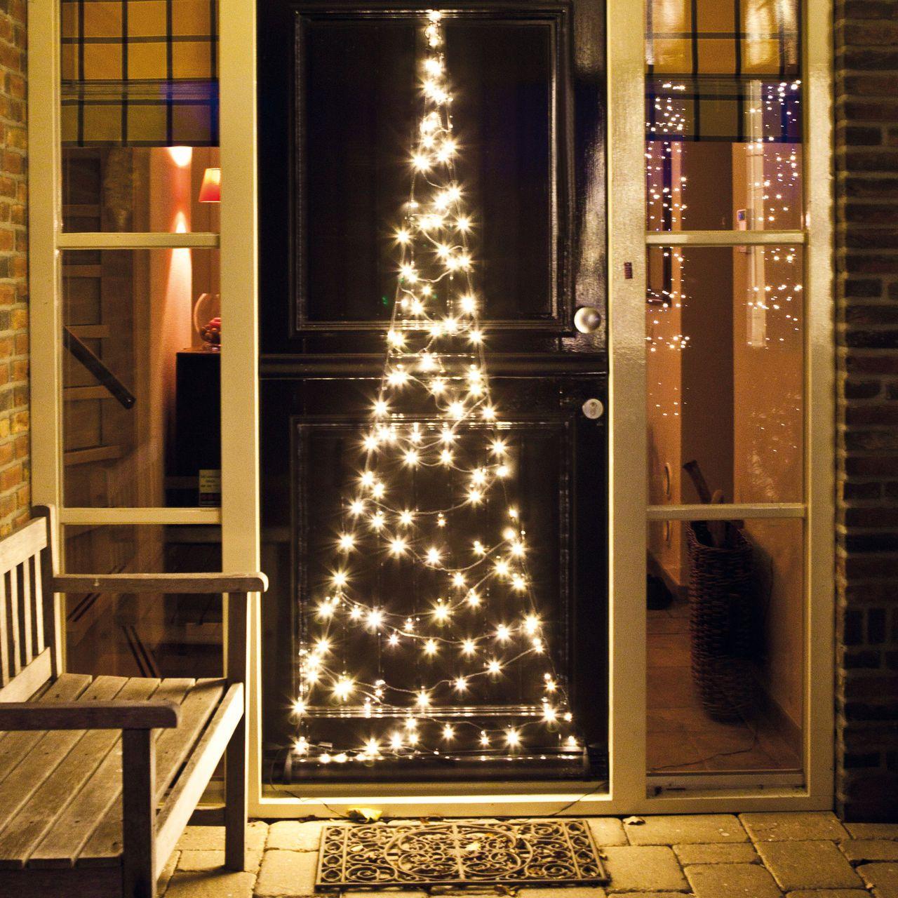 LED-Türbaum für Weihnachten