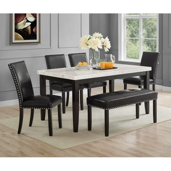 Navi Dining Table Dining Table Marble Marble Top Dining Table Black Dining Room