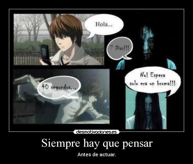 Carteles Anime Manga Death Note Deathnote Yagami Raito Kira Light Shinigami Ryuk The Ring Siempre Hay