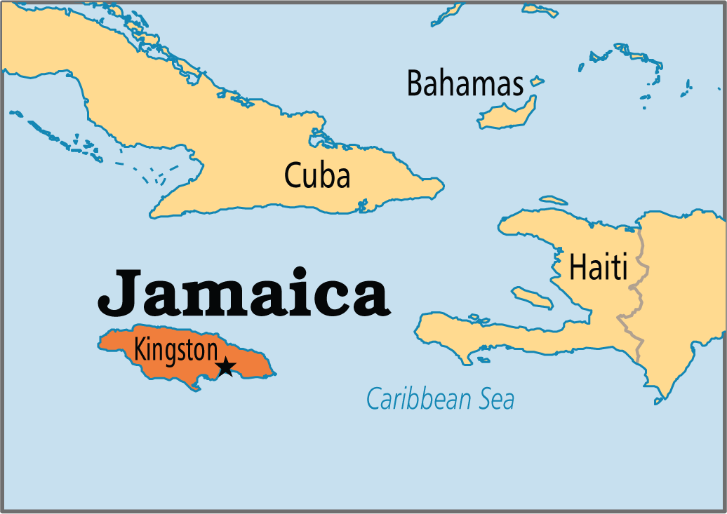 Jamaica Is The Largest Englishspeaking Island In The Caribbean - Jamaica map caribbean sea