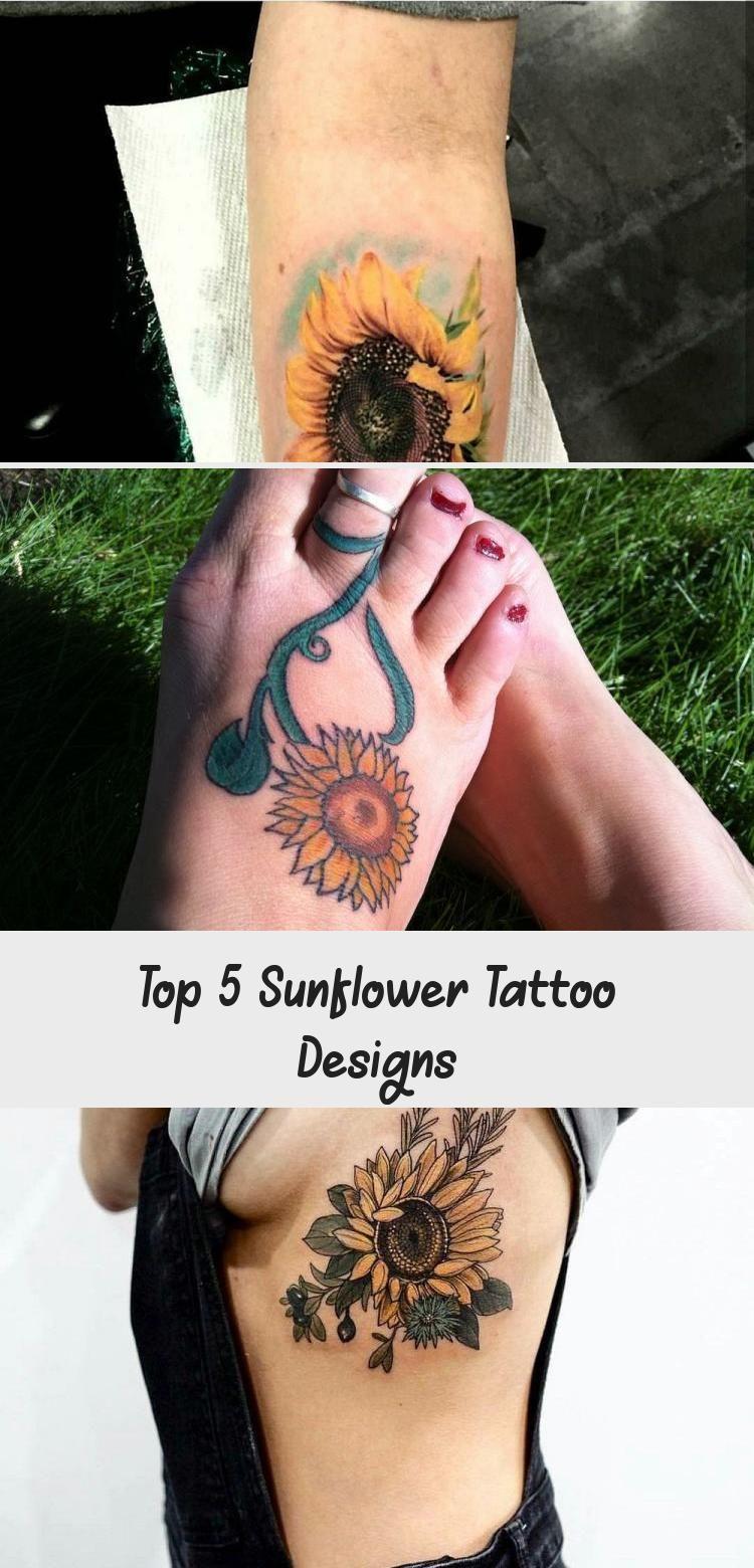 Photo of Top 5 Sunflower Tattoo Designs #sunflowertattoosForearm #sunflowertattoosWithNam…