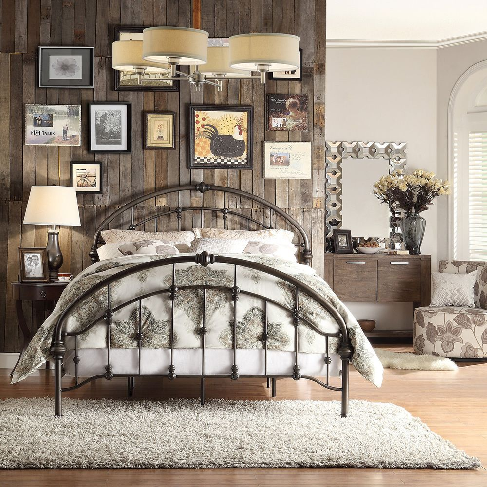INSPIRE Q Lacey Round Curved Double Top Arches Victorian Iron King-sized  Metal Bed |