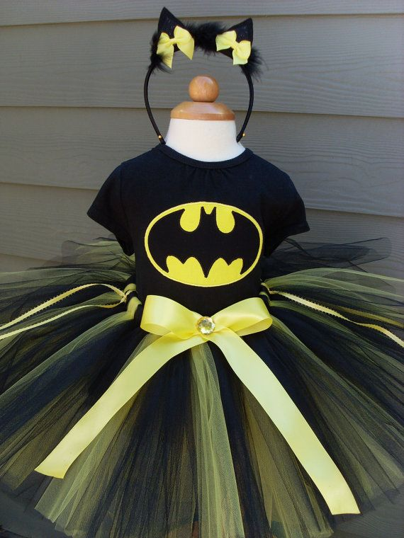 the girls are going to be bat girl for halloween but i think im going to make this instead of buying costume awesome hillary we can make batman even - Halloween Tutu Dress
