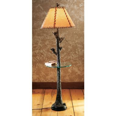 Grand river lodge pine ridge floor lamp with glass table at cabelas