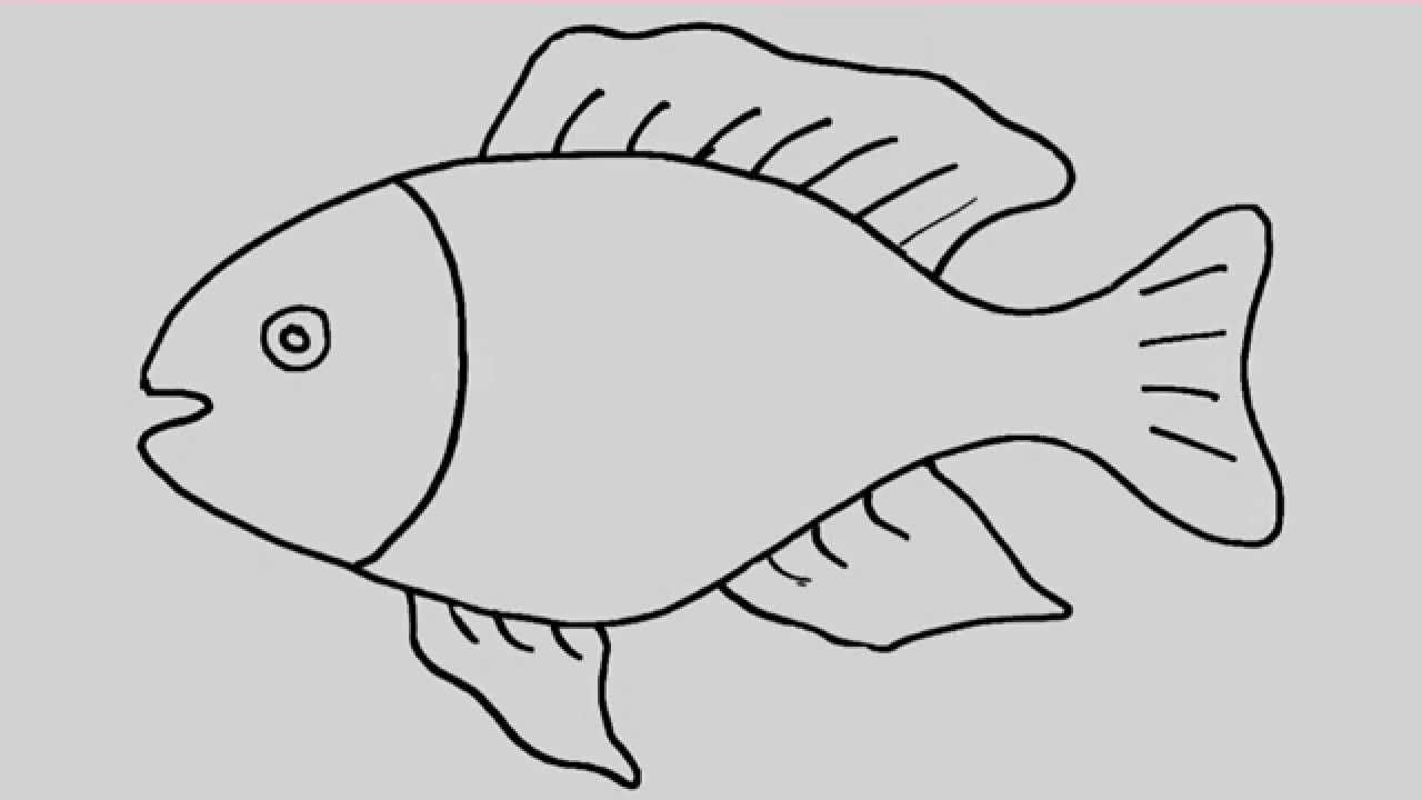 How To Draw A Fish Animation And Entertainment For Kids Fish Cartoon Drawing Fish Drawings Fish Drawing For Kids
