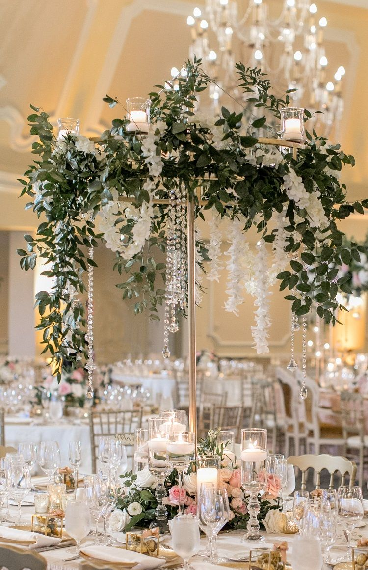 Enticing Tables Offers Candela Tabletop Chandelier For Wedding And Party Rentals Locally I Wedding Centerpieces Wedding Rentals Decor Tall Wedding Centerpieces