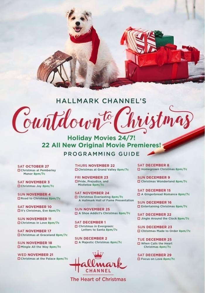 Hallmark Channel Countdown to Christmas Schedule 2018 ...