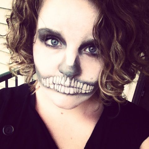skeleton girl halloween2013  cool halloween makeup
