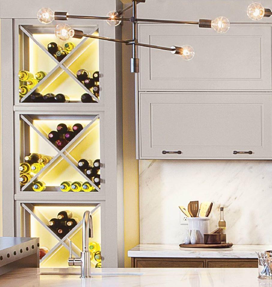 Designer Tip Adding Backlighting To Wine Shelves Helps Them Endearing How To Become A Kitchen Designer Design Inspiration