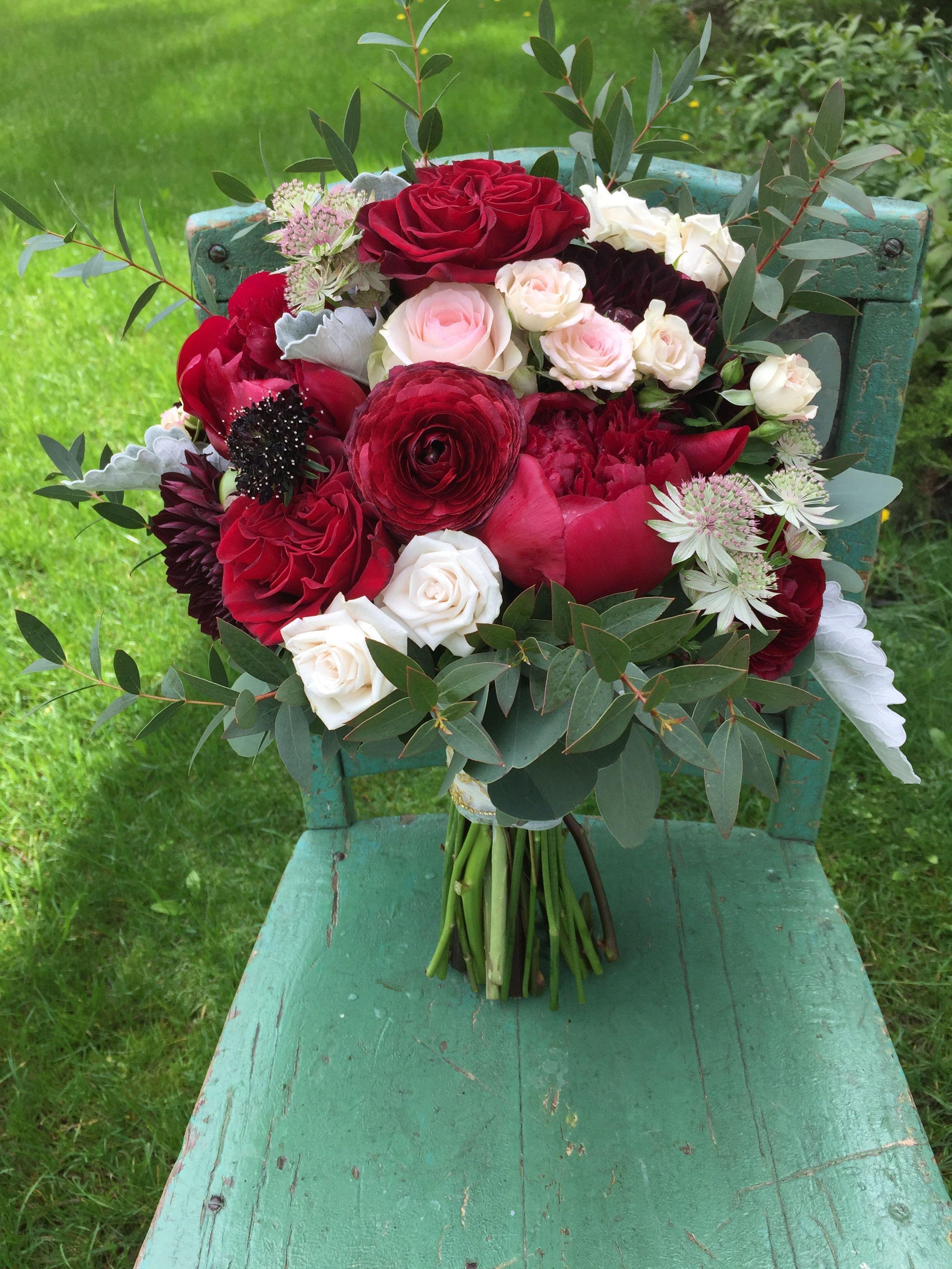 Wine And Blush Bridal Bouquet Blush Bridal Bouquet Bridal Bouquet Wedding Flowers
