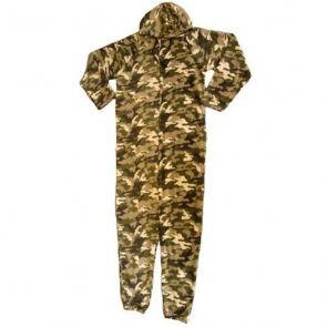 ampia selezione di design vendita online più foto Pigiama intero uomo Mimetica militare con cappuccio-Militari ...