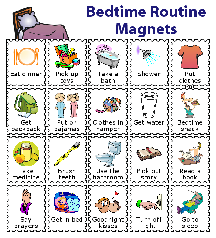 20 Printed Magnets For Kids Kids Routine Chart Toddler Routine Chart Chore Chart Kids