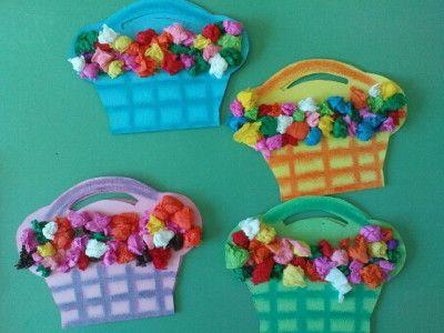 Tissue paper flower baskets flower basket tissue paper and craft tissue paper flower baskets fun family crafts mightylinksfo
