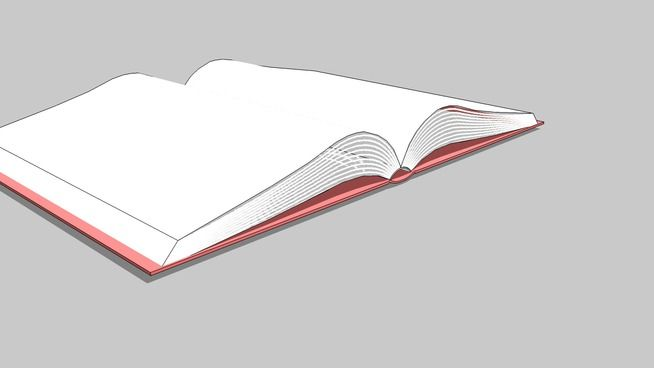 Large preview of 3D Model of open book