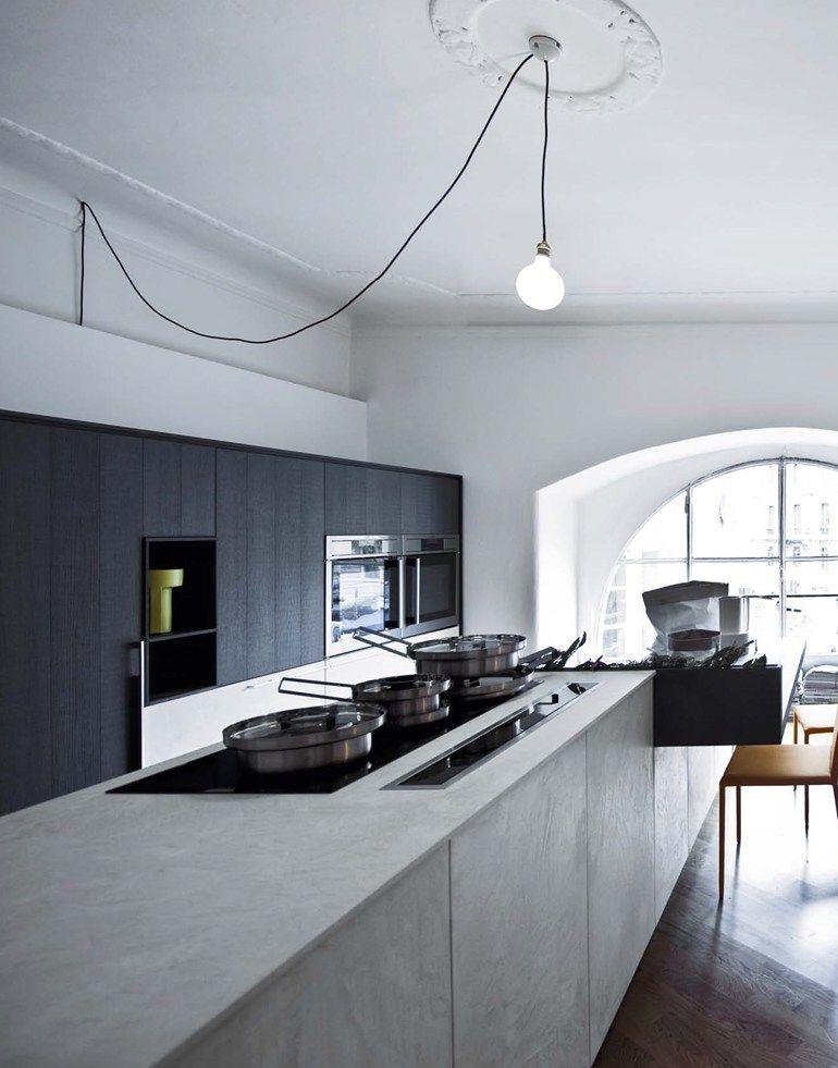 Cucina con isola senza maniglie KALEA - COMPOSIZIONE 9 ...