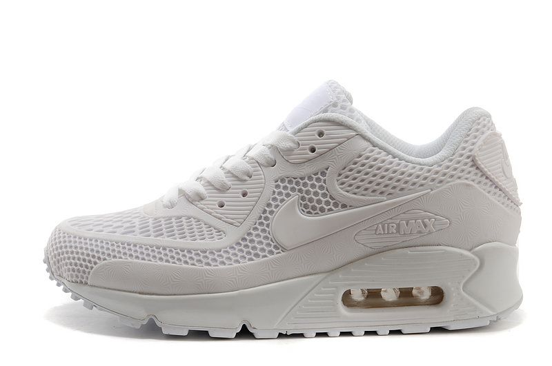 more photos aedc6 0e393 USD  68.00 Nike Air Max 90 KPU All White Mens Womens Athletic Running Shoes