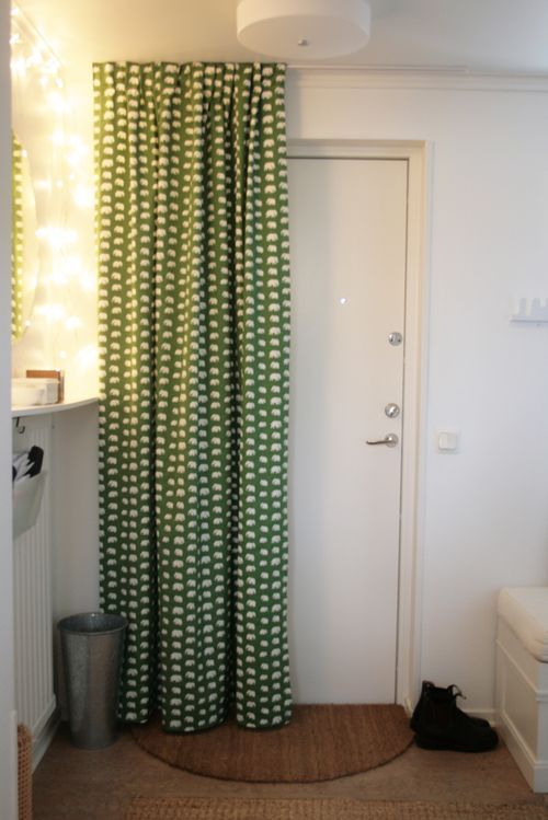 door drapery - awesome for my front door (condo) & door drapery - awesome for my front door (condo) | DIY Home Decor ...
