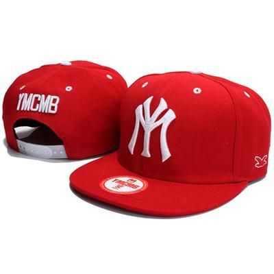YMCMB NY Snapback Hats - Red