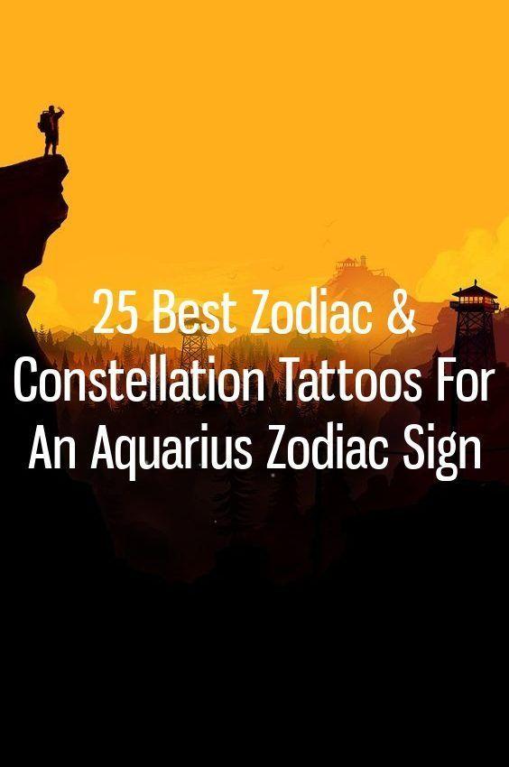 Photo of 25 Best Zodiac & Constellation Tattoos für ein Sternzeichen Wassermann, #Aquarius #constellation …