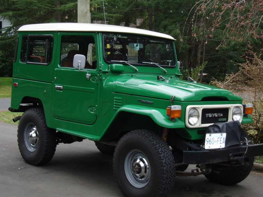 Pics of green fj40s the best color show us what you have color showtoyota fj40land