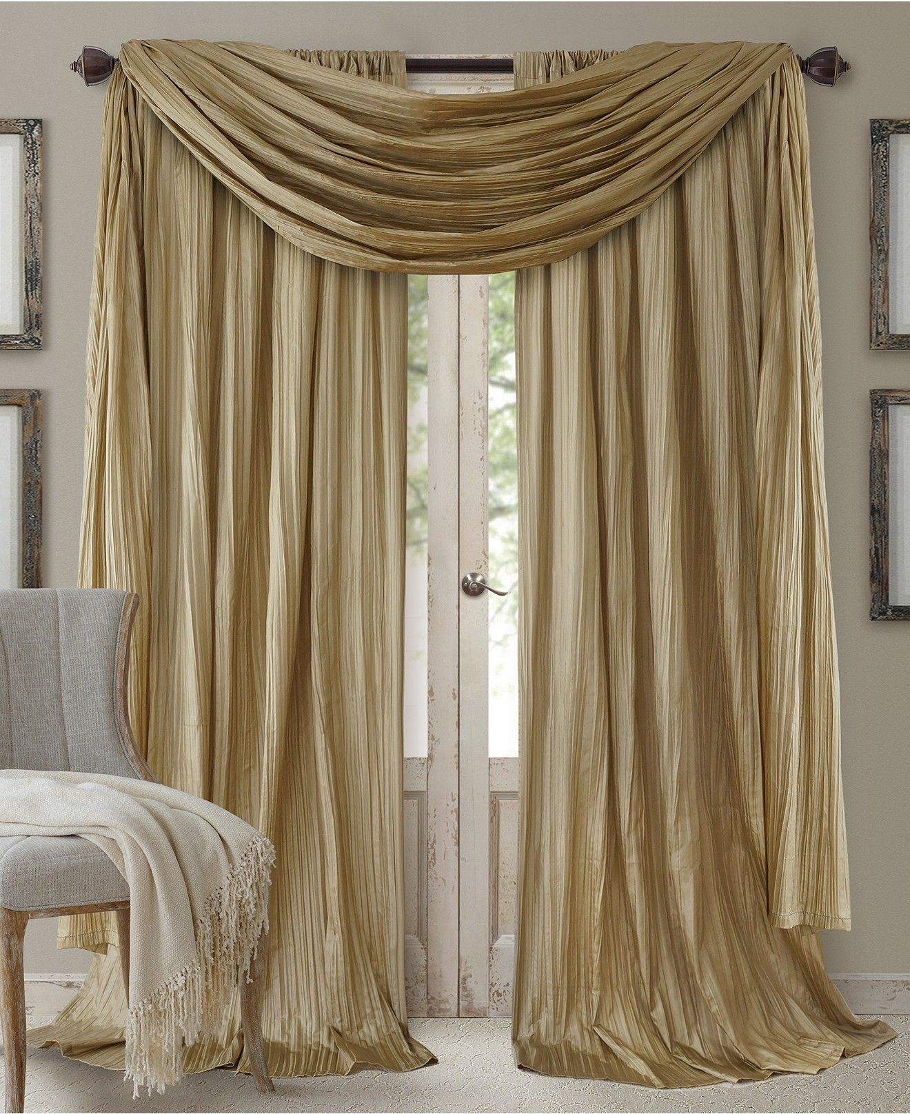 Athena Rod Pocket 52 X 95 Pair Of Curtain Panels With