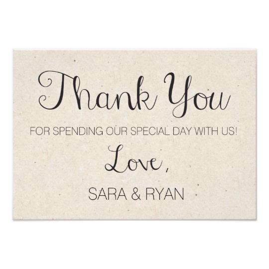simple rustic wedding thank you card click through to find matching games favors