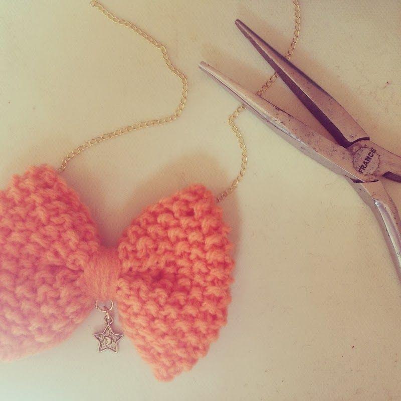 En bref - work in progress - les broutilles de nanie - noeud papillon - wool