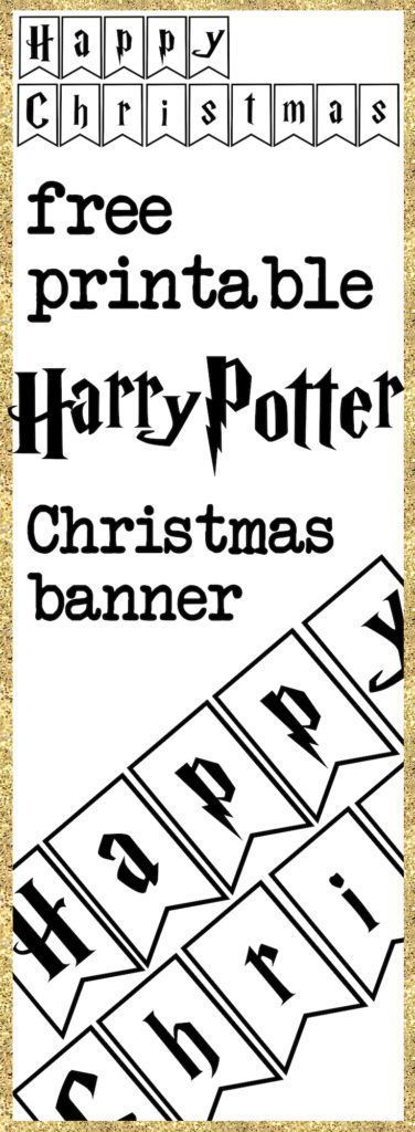 Print yourself a harry potter christmas banner free printable this easy diy harry potter happy christmas banner is perfect for a harry potter christmas party solutioingenieria Images