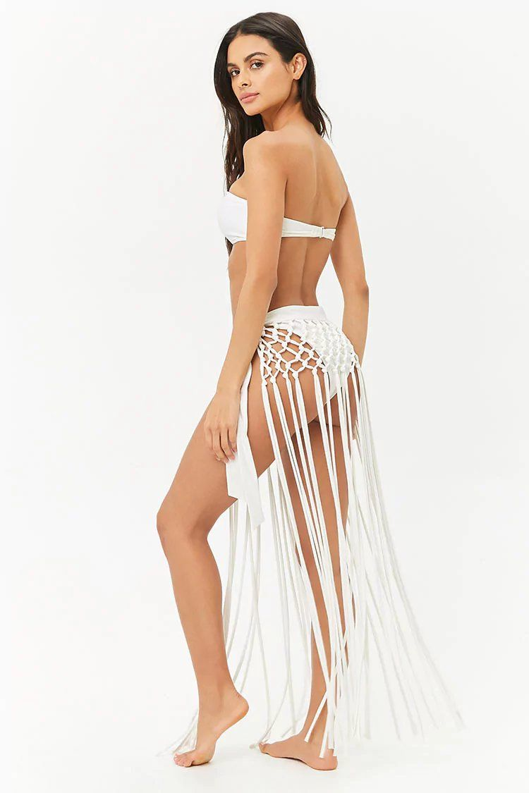 7706680894 Product Name:Fringe Sarong Swim Cover-Up, Category:swimwear_cover-ups,  Price:17.9
