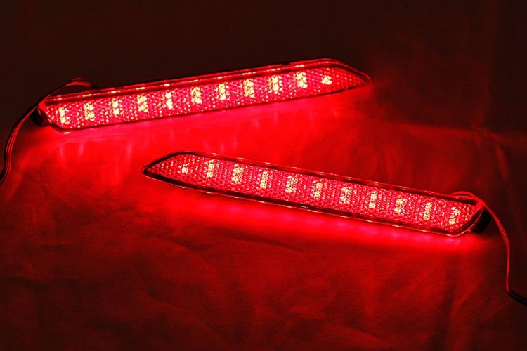 Taillight Style Red 3d Optic Led Bumper Reflector Lights For Toyota Camry Lexus Lexus Isf Lexus Toyota Camry