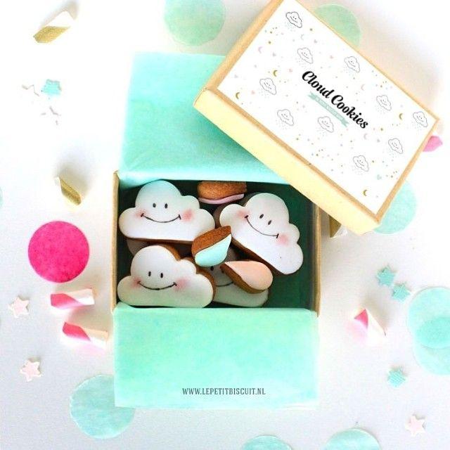 Cloud cookies available now!!! #etsy #cookies #lepetitbiscuitshop