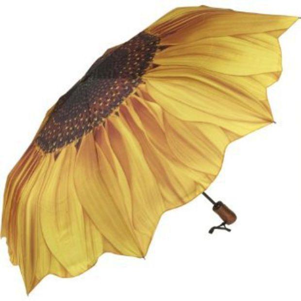 acdae62979044 Amazon.com: Galleria Sunflower Bloom Folding Umbrella - Sunflower ...