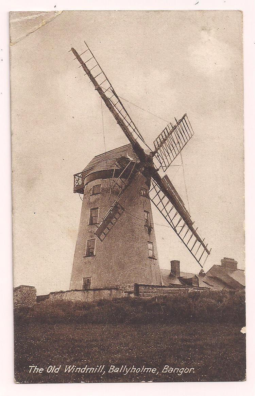 Ireland Co Down postcard Bangor Ballyholme The Old Windmill | eBay