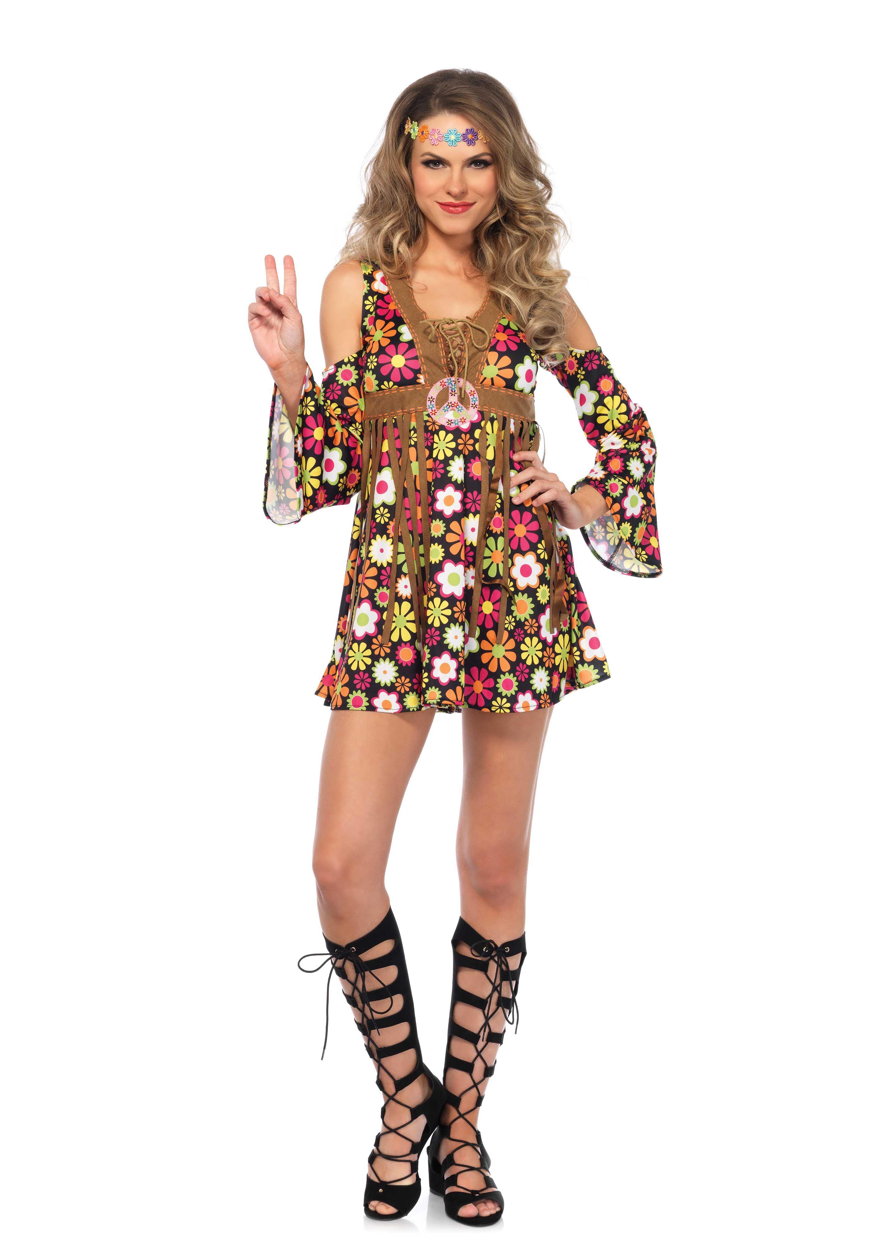 917e676d28 Leg Avenue 85610 Starflower Hippie 1970 s Costume Dress Up  Halloween
