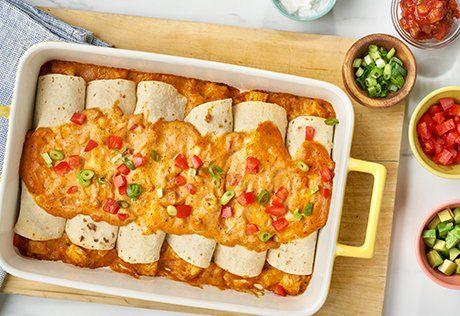 Easy Chicken Amp Cheese Enchiladas Recipe Enchilada Recipes Campbells Soup Recipes Food Recipes
