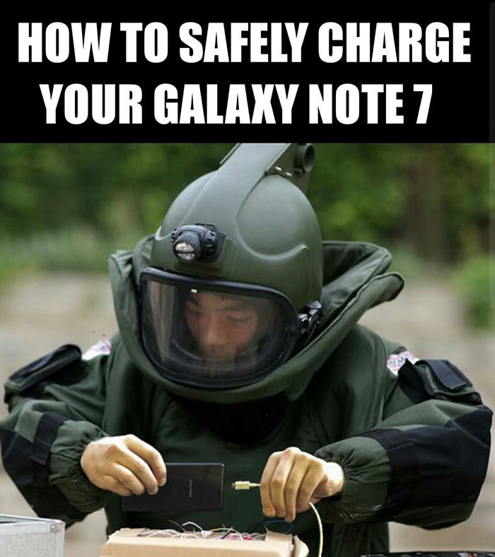6e3342b60b5dcce4e536514682b32da8 10 of the funniest reactions to the exploding samsung note 7 humor