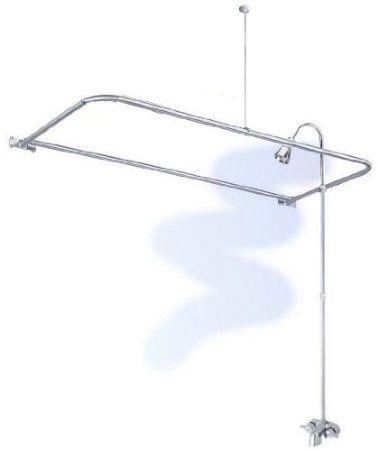 Clawfoot Tub Add On Shower Kit Gooseneck Faucet Rod Drain