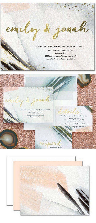 confetti daydreams wedding invitations%0A    Geode Agate and Crystal Wedding Invitations to Rock Your World     Crystal wedding  Weddings and Invitation wording